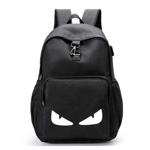 Luminous Anime Print Travel Anti Theft Canvas Backpack - PILGRMR