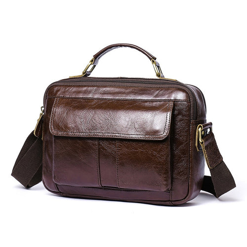 bets leather briefcase brown