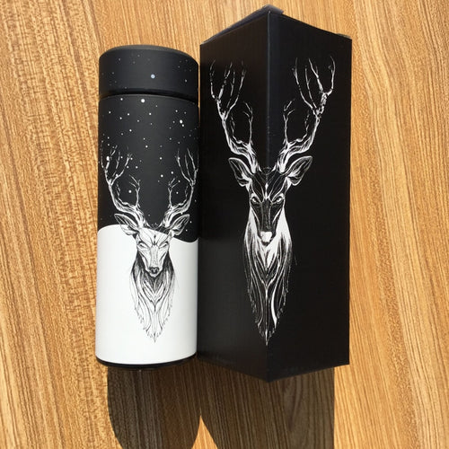 Reindeer Vacuum Stainless Steel Travel Thermos Insulated Flask - PILGRMR