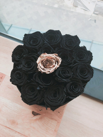 Everlasting Preserved Rose with Rose Gold