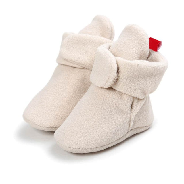 Unisex Baby Newborn Cozie Faux Fleece Bootie Winter Warm Infant Toddler Crib Shoes Classic Floor Boys