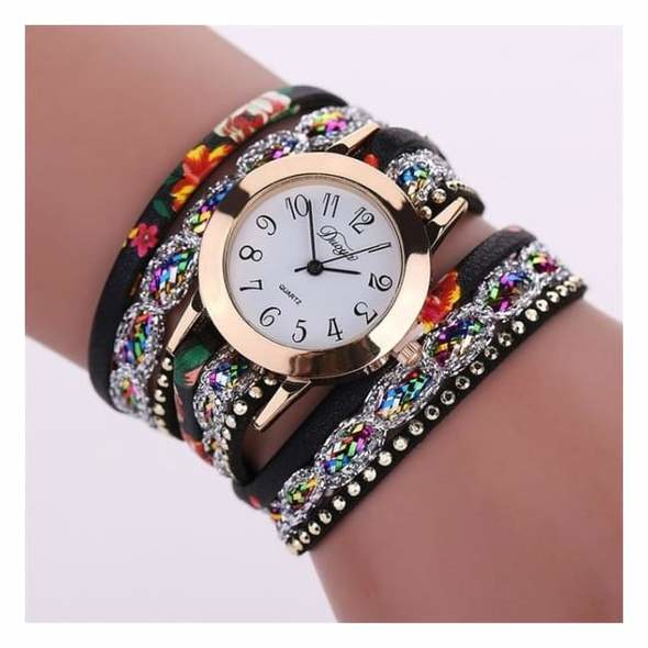 Colorful Multi-Layer Leather Quartz Watch