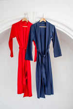 The Bamboo Robe - Navy Blue
