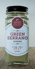 Load image into Gallery viewer, Chili Pepper: Green Serrano Powder