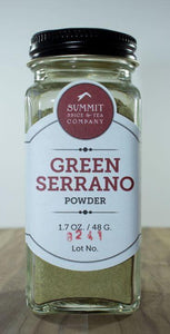 Chili Pepper: Green Serrano Powder
