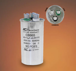 45uF Run Capacitor 450VAC 45 uF//MFD 450V AC UL listed