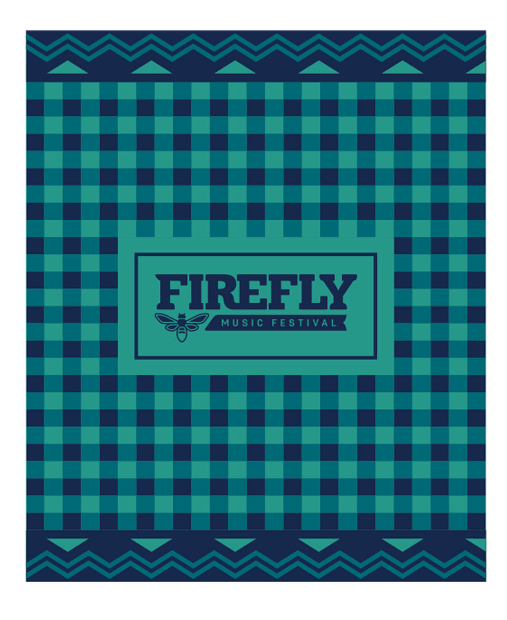 22A Firefly Gingham Woven Blanket