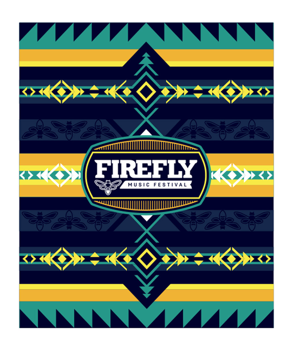 23A Firefly Tribal Woven Blanket
