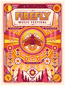 3P Firefly Ltd Edition Screenprint/Signed Poster