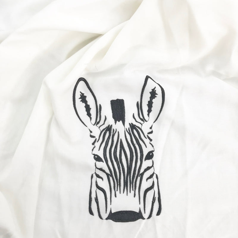 Euca Canvas Embro | Zebra Face