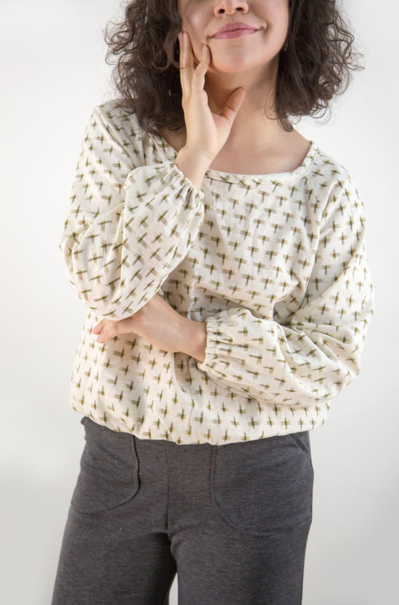 Paper Pattern : Raglan Blouse | Friday Pattern Co