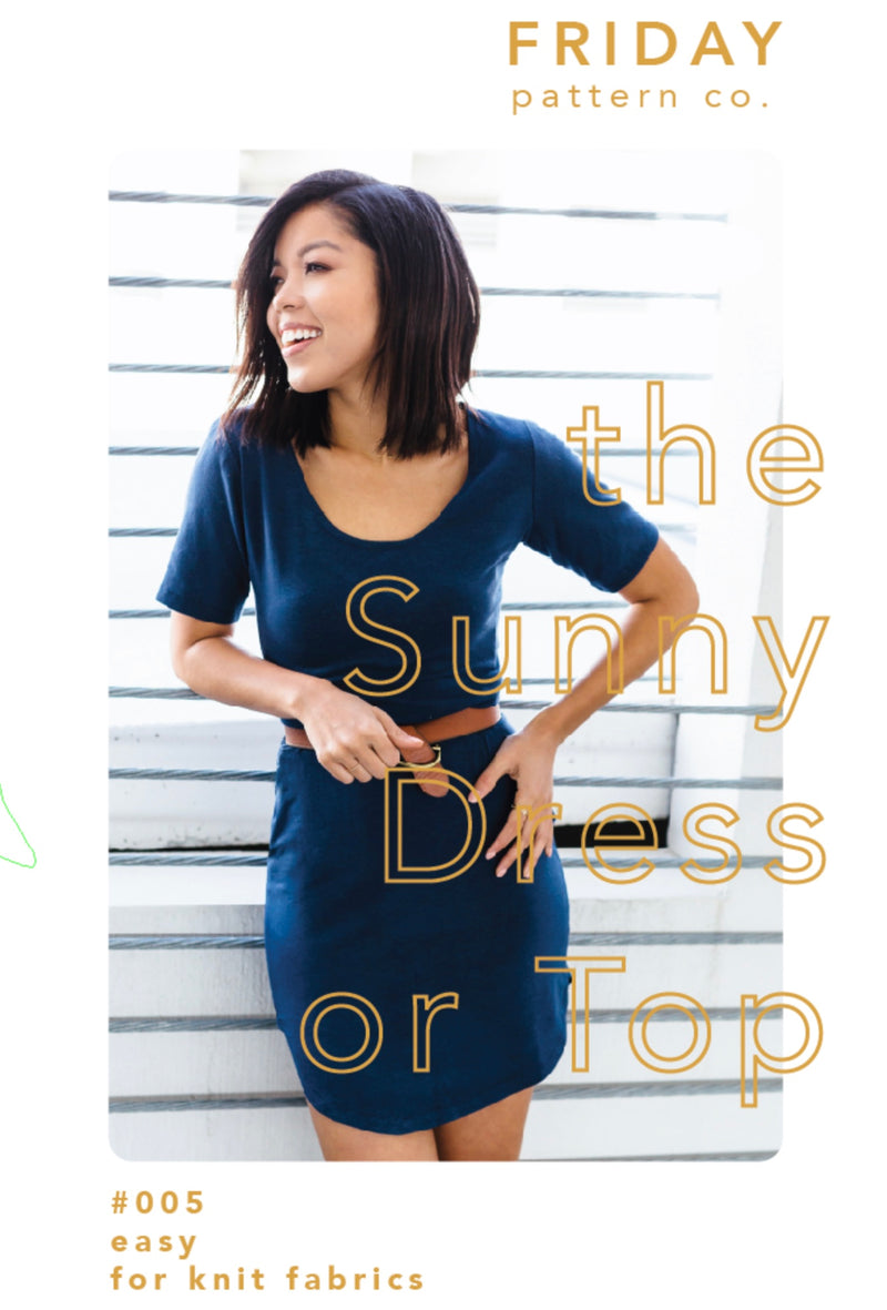 Paper Pattern : The Sunny Dress | Friday Pattern Co.