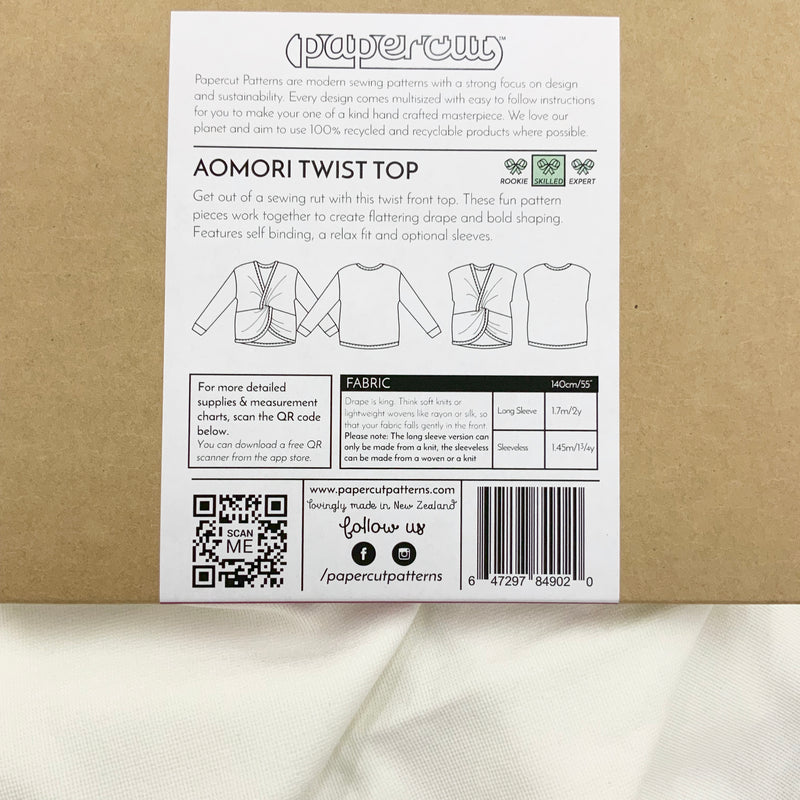 Paper Pattern : Aomori Twist Top | Papercut Patterns