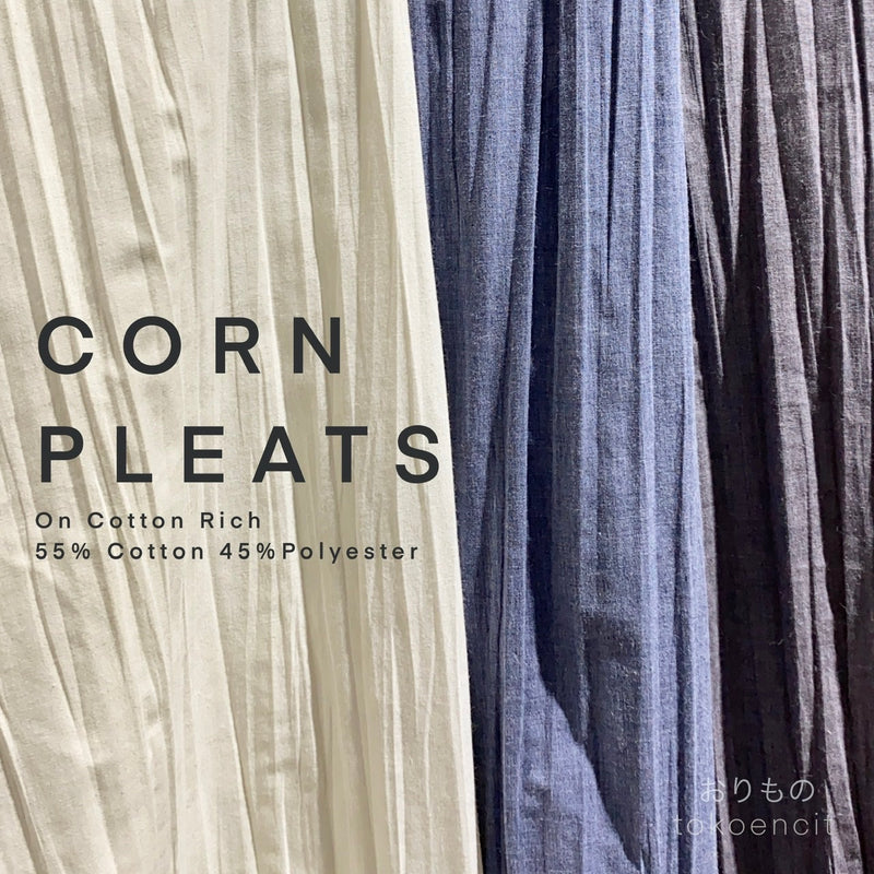 Corn Pleats / Pleats Jagung | Solid