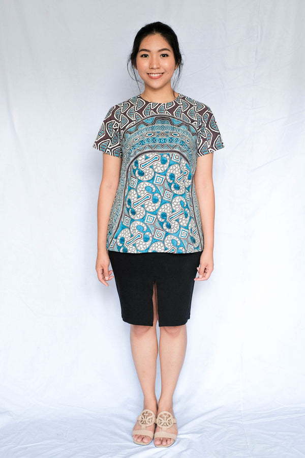Simple Blouse Slimfit | Batik Asmat Yori