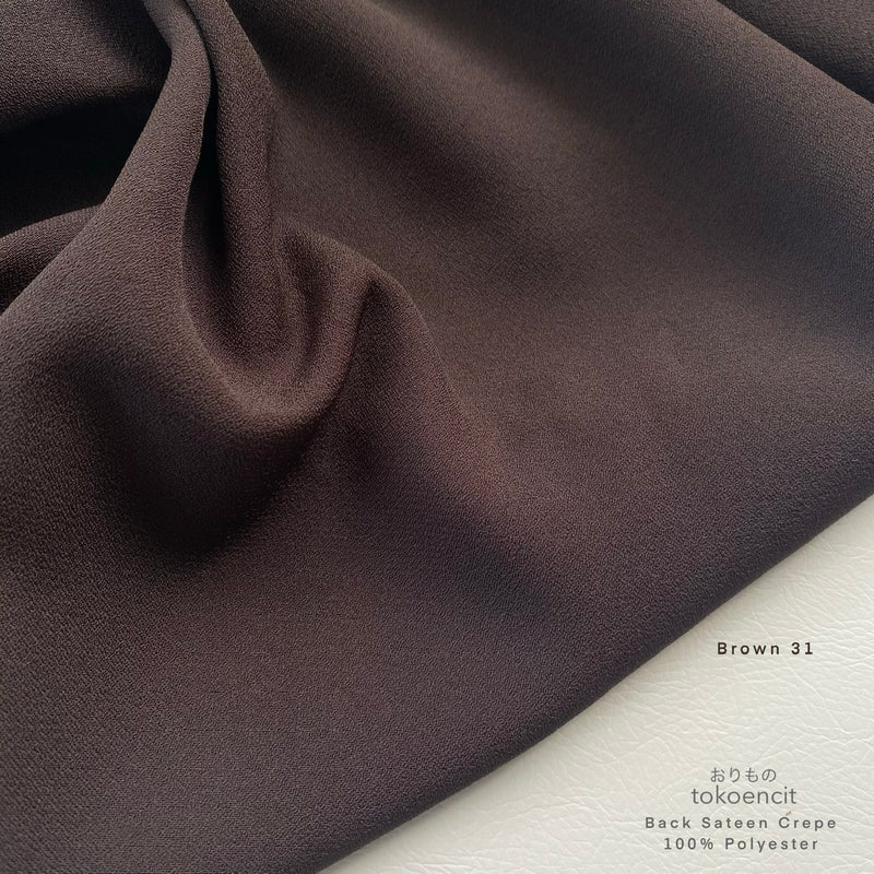 Back Sateen Crepe | Solid