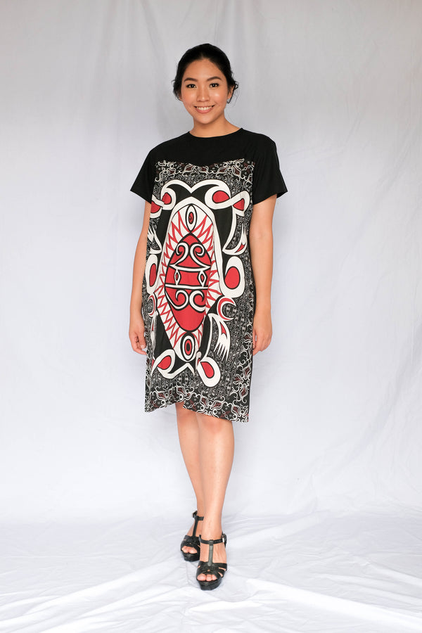 Heartshape Dress | Batik Asmat Besar
