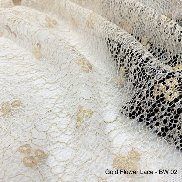 Gold Flower Lace | Solid