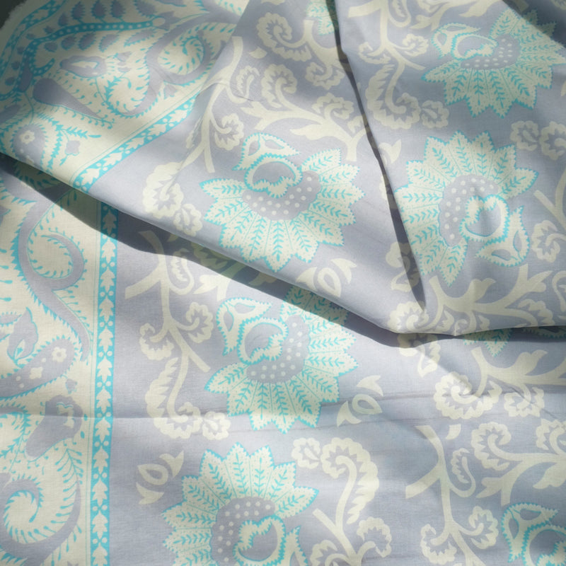 Euca Stretch | Batik Kipas (border) - Blue 17