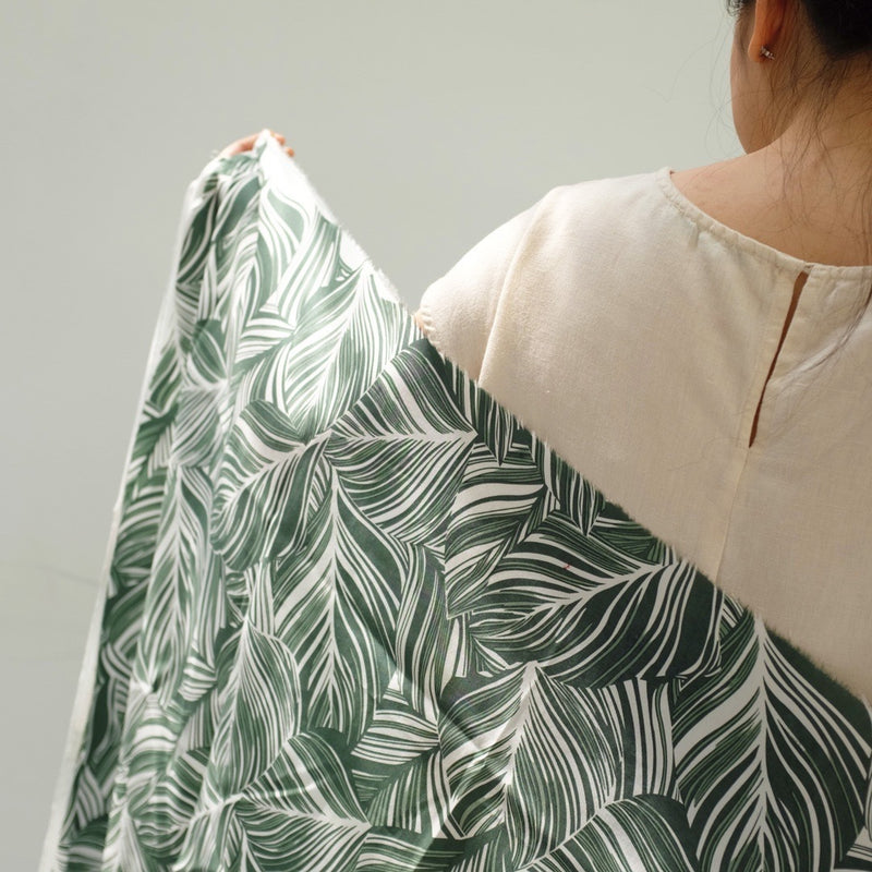 Linen Super | Overlap Leaves