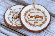 Load image into Gallery viewer, First Christmas Wood Ornaments