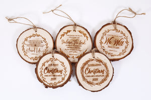First Christmas Wood Ornaments