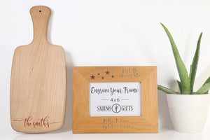 Last Name Cutting Board