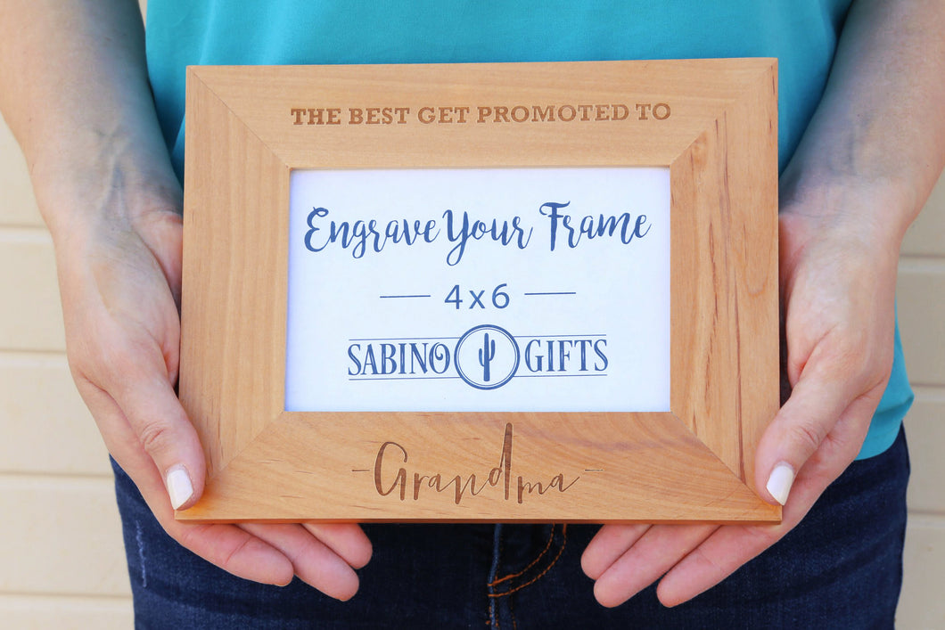 Promoted To Grandma Picture Frame