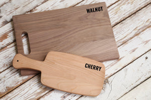 Choice of Cherry or Walnut Cutting Boards