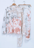 Pink Tie Dye Lounge Set - La Mère Clothing + Goods
