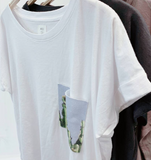 Cactus Pocket Cropped Tee - La Mère Clothing + Goods