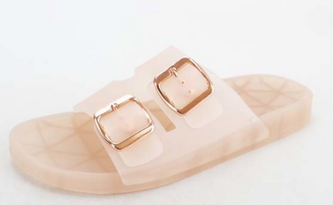 Pink Jelly Slide Sandal - La Mère Clothing + Goods