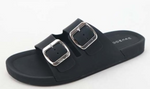 Black Jelly Slide Sandal - La Mère Clothing + Goods