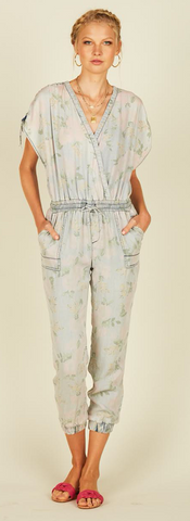 Tencel Vintage Floral Jumpsuit - La Mère Clothing + Goods