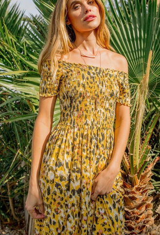 Smocked Maxi Dress - La Mère Clothing + Goods