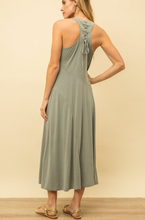 Load image into Gallery viewer, Lace Up Maxi Dress - La Mère Clothing + Goods