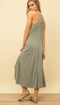 Lace Up Maxi Dress - La Mère Clothing + Goods