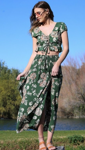 Two Piece Floral Set - La Mère Clothing + Goods