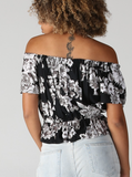 Printed Off The Shoulder Top - La Mère Clothing + Goods