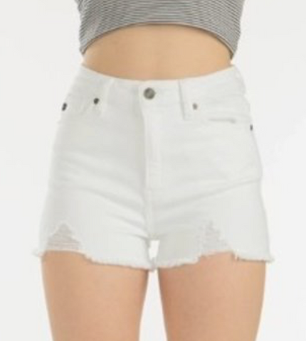 White Denim Shorts - La Mère Clothing + Goods