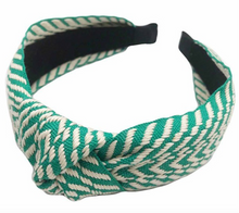 Load image into Gallery viewer, Geometric Embroidered Knotted Headband - La Mère Clothing + Goods