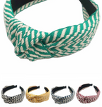 Geometric Embroidered Knotted Headband - La Mère Clothing + Goods