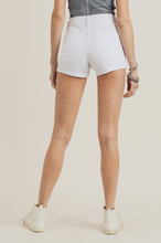 Load image into Gallery viewer, White Distressed Cuff Shorts - La Mère Clothing + Goods