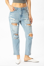 Load image into Gallery viewer, Light Wash Distressed Jeans - La Mère Clothing + Goods