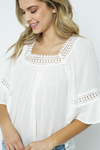 Crochet Square Neck Top - La Mère Clothing + Goods