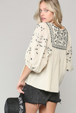 Embroidered Peasant Blouse - La Mère Clothing + Goods