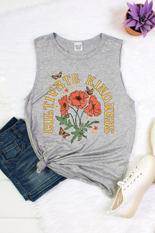 Cultivate Kindness Muscle Tank - La Mère Clothing + Goods