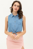 Sleeveless Tie Top - La Mère Clothing + Goods