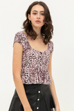 Cheetah Print Top - La Mère Clothing + Goods