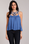 Braided Blue Top - La Mère Clothing + Goods